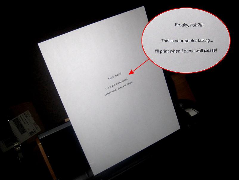 Printer Talking