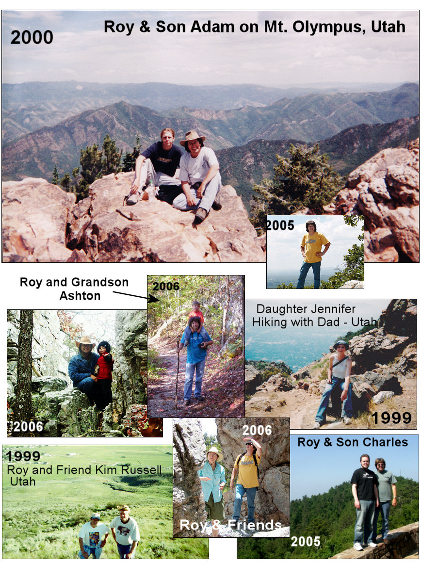 Roy Hiking Through the Years