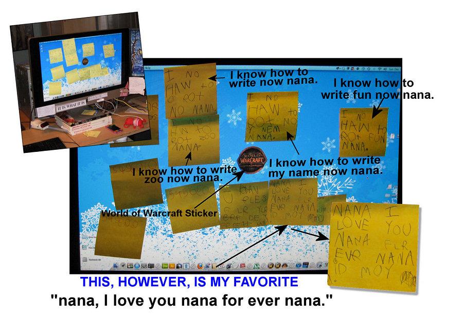 Post-Its For Nana