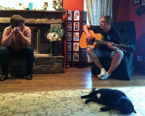 Roy, Adam and Love Cat - May 14th 2012